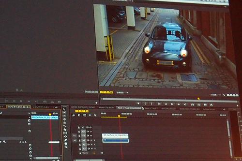 Premire Pro CCではナンバープレートにモザイクをかけて、自動で追尾させるマスク&トラック機能をデモ