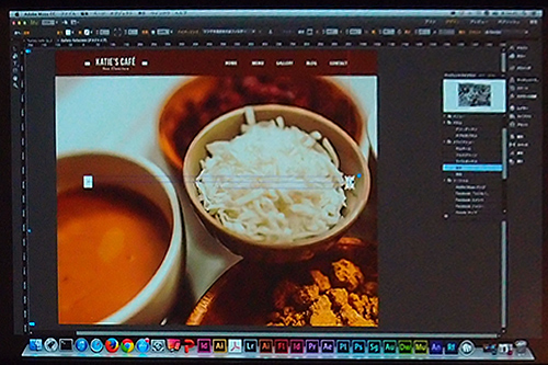 WEBデザイン「MUSE」でフォトギャラリーをHTML5で作成中。もちろんコーディングする必要はなし。